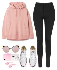 """""""""""Guaranteed I can blow your mind, mwah"""" """" by feel-like-infinity ❤ liked on Polyvore featuring Topshop, Converse, Fendi and Valfré"""