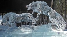 Ice wolves.