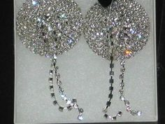 Fabulous Rhinestone Tassel Nipple Pasties!  #Exotic Lingerie  #burlesque  #bridalgift  $35