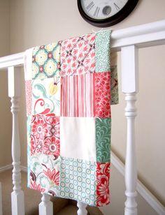 Fandango Patchwork Baby Blanket by liltulip on Etsy, $48.00