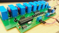 #relay #card #controlled via #RS485 #modbus #protocol #arduino #atmega8 #max485 #lm2596 #uln2803 #pc817 by michal.golabek