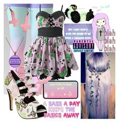 """""""Pastel Goth #2"""" by xlostinstereox ❤ liked on Polyvore featuring Iron Fist, INDIE HAIR, Hell Bunny, women's clothing, women's fashion, women, female, woman, misses and juniors"""
