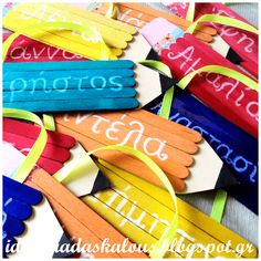 back to school gifts: craft stick pencils