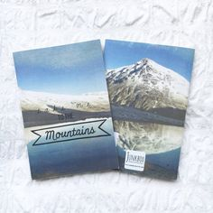 Mountains notebook A6 sketch pad ideas book by JunkboxCouture