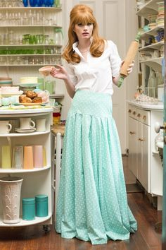 Southern Belle Maxi Skirt Green