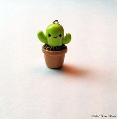 Kawaii Cactus Charm - Polymer Clay Charms, Kawaii Charms, Cactus Charms by RoyaltyFemme on Etsy