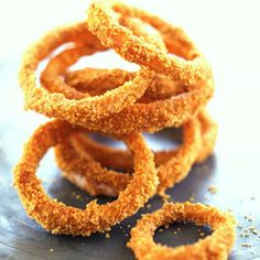 Next time you're craving onion rings, try these baked, panko-and-Parmesan versions instead. They're so easy to make!