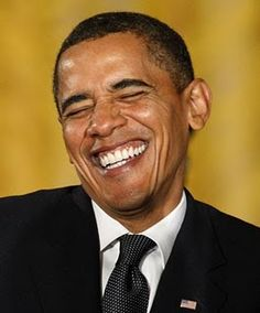 Hot Obama. He is cracking up!