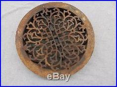 Antique Cast Iron 13 5/8 Round Floor Register Heat Grate Decorative Vent 5157-15 Cast Iron, It Cast, Planter Table, Antiques, Floor, Watches, Image, Antiquities, Pavement