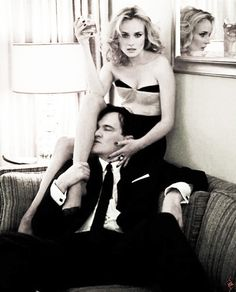 Diane Kruger and Quentin Tarantino photographed by Jean Baptiste Mondino