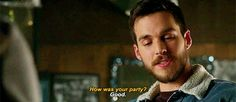 Kara and Mon-El hanging out awkwardly at the bar...wait, where have I seen this before? Oh, right. Ugh. I don't know what's going on with Mon, Imra, and the Legion of Superheroes, but I suspect more than ever after this scene that it's got a lot to do with Kara and Reign. (gif by misomeru on tumblr)  |TV Shows|CW|#Supergirl gifs|Season 3|3x09|Reign|Kara/Mon-El|#Karamel gifs|Melissa Benoist|Chris Wood|#DCTV|