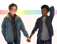 Its your boy back with a drawing after 17 years~ Love simon was really gay so Amor Simon, Great Love Stories, Love Story, Hunger Games, Love Simon Movie, Simon Spier, Jacques A Dit, Becky Albertalli, Gay