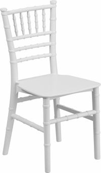 Kids White Resin Chiavari Chair, LE L 7K WH GG