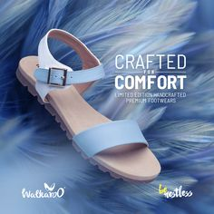 Step out and slay with the finest limited-edition premium handcrafted footwear from Walkaroo! Cushioned sole with premium upper makes them unique for any weather with exceptional style and comfort.  #Walkaroo #BeRestless #HandCraftedFashion Slay, Looks Great, Footwear, Weather, Sandals, Unique, Casual, How To Wear, Shoes