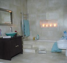 1:12 bathroom with sunken bath