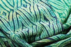 Woven Shibori Scarf Blue Green Detail by sapoague on Flickr. Very pretty.