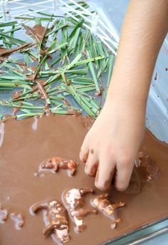 Sing a fun counting song then help the pigs play in the mud with farm theme sensory play idea and rhyme. Playdough Activities, Farm Activities, Spring Activities, Holiday Activities, Classroom Activities, Preschool Activities, Sensory Bins, Sensory Play, Sensory Table