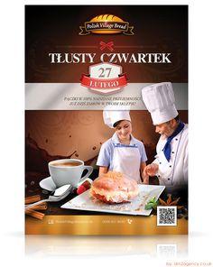 "Brand: Polish Village Bread Project: ""Tłusty czwartek"" Category: Design, DTP, Layout, Photography, Catalogues, Brochures Production: Flyers, Leaflets, Posters, Billboards Agency: dm2Agency.co.uk Social Media: https://www.facebook.com/dm2agency https://twitter.com/dm2agency https://www.pinterest.co.uk/dm2agency/ https://www.instagram.com/dm2agency/ https://www.behance.net/dm2agency/ https://dm2agency.deviantart.com/ #dm2agency #marketing #GraphicDesign"