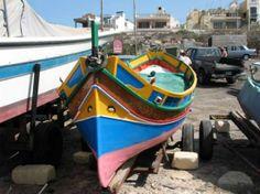 traditional maltese boat, mellieha.