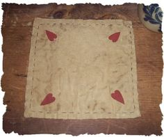Country Primitive Heart Valentines Day by oldetimegatherings, $5.49