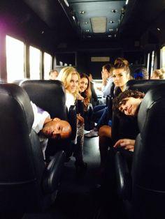The 100 cast: Rick (Lincoln), Dev (Jasper), Eliza (Clarke), Marie (Octavia) and Lindsey (Raven) #SDCC