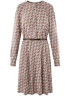 oodji Collection Women's Belted Viscose Dress: Amazon.co.uk: Clothing Viscose Dress, Belts For Women, Dresses With Sleeves, Amazon, Long Sleeve, Clothing, Collection, Fashion, Outfits