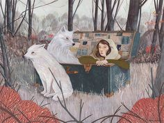 Wolf fairytale, Rebecca Green, illustration