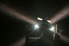 Lichtbundels vd Brandaris  in de sneeuw 29/1/2015 ✨✨❄❄