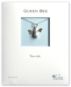 Lily Charmed Silver Bee Necklace.  $56 on Lily Charmed website, or $34.99 on Zulily.