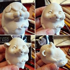 1 million+ Stunning Free Images to Use Anywhere Polymer Clay Animals, Polymer Clay Dolls, Polymer Clay Projects, Polymer Clay Creations, Diy Clay, Toy Art, Clay Monsters, Rabbit Sculpture, Paperclay