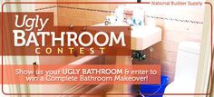 Ugly bathrooms are the worst, especially when they're in your home! National Builder Supply is teaming up with Pfister, American Standard, and Trans Globe to help one lucky winner get rid of their ugly bathroom and win a complete bathroom makeover!