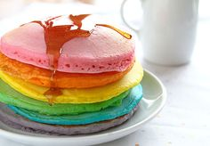 Tips for the Perfect Rainbow Pancake! #pancakes #rainbow