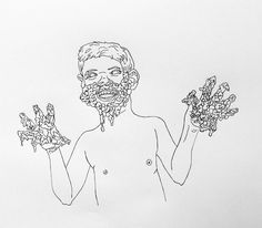 Back to foam drawings...more warnings  by Zoe Phillips