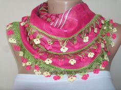 Pink DaisyGorgeous Turkish Traditional by colourfulrose on Etsy, $29.90