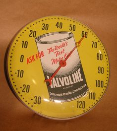 Vintage Valvoline Motor Oil Thermometer by Pam by AuntysTeeks, $325.00