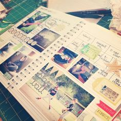 handmake my calendar for the summer/fall with a sturdy art book, stamps & pretty things.