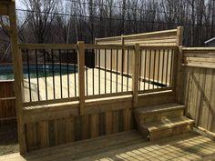 Backyard Pool Landscaping, Backyard Pool Designs, Small Backyard Patio, Swimming Pools Backyard, Diy Patio, Outdoor Pool, Backyard Ideas, Small Brick Patio, Brick Patios