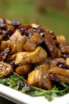 Eggplant and arugula salad