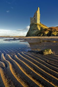 Greenan Castle is a tower house, possibly on the site of an ancient fort, in South Ayrshire, Scotland by Jim Richmond Places Around The World, Oh The Places You'll Go, Places To Visit, Around The Worlds, Scotland Castles, Scottish Castles, England Ireland, England And Scotland, Famous Castles