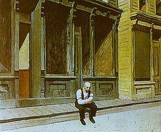 Edward Hopper Main Street Sunday em Imagem Semanal: Domingo http://arteseanp.blogspot.com