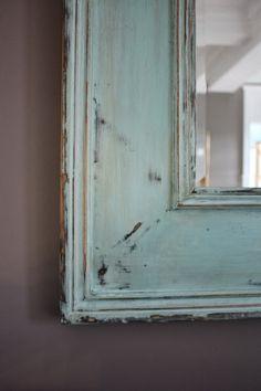 Weathered Turquoise Mirror