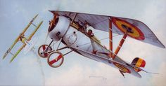 Belgian Nieuport 23 as Edmond Thieffry shoots down an Albatros DIII. BFD