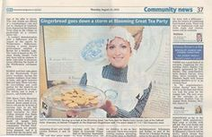 A successful Blooming Great Tea Party at The Daffodil Hotel & Spa, Grasmere last week saw the event raise £1,114 for Marie Curie Cancer Care. This week's Westmorland Gazette picture shows Hannah proudly offering the photographer a free sample!
