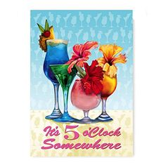 US Flag Store Flowery 5 O'clock Somewhere Garden Flag US ... …