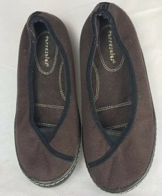 0e36d85f4 TERRASOLES Womens Casual Slip On Shoes Brown Size 8 M Removable Washable  In-Sole