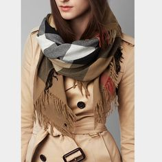 AUTHENTIC BURBERRY COLOUR CHECK MERINO WOOL SCARF AUTHENTIC BURBERRY COLOUR CHECK MERINO WOOL SCARF. NEW WITH TAGS Burberry Accessories Scarves & Wraps
