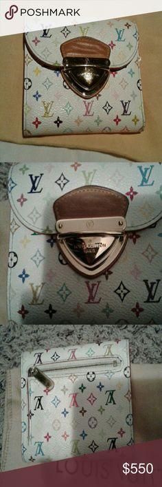 a52e41441e68 Auth Louis Vuitton monogram white multicolor