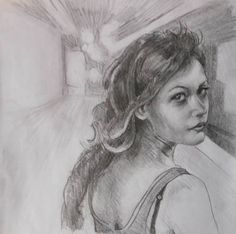 """Saatchi Art is pleased to offer the drawing, """"The munch girl,"""" by Giuseppe Vallesi. Original Drawing: Pencil on Paper. Size is 0 H x 0 W x 0 in. Saatchi Art, Paintings, Female, Drawings, Fictional Characters, Paint, Painting Art, Sketches, Painting"""