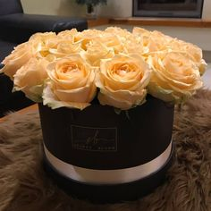 Beautiful Roses Luxury Roses Big Roses Black Flower Box Orange Roses Secre Bloom Boxes