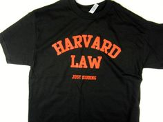 Harvard Law College funny men's Tee shirt black choose A size #1StopTrendShop #GraphicTee
